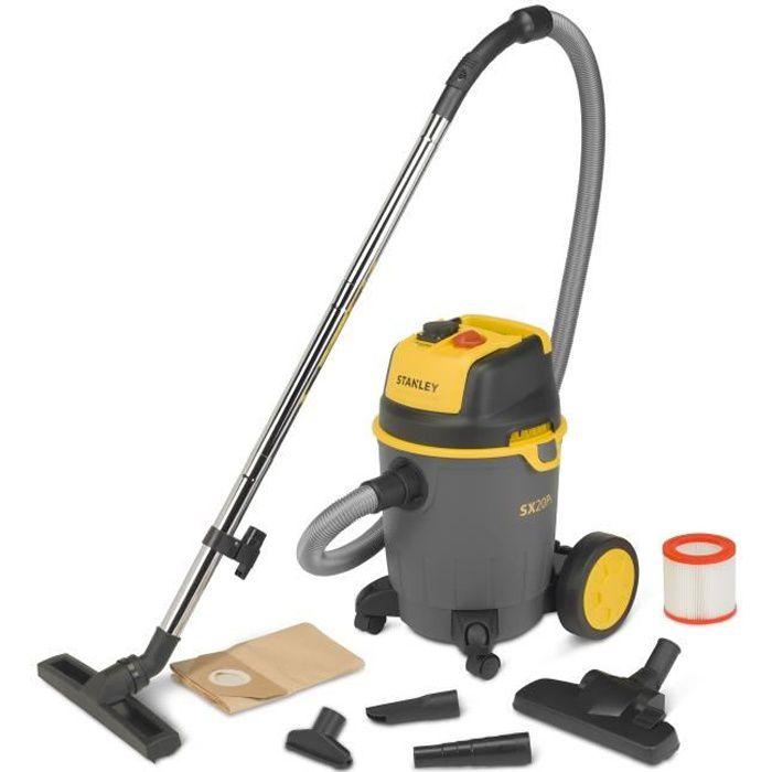 STANLEY Aspirateur eau et poussière 1200 W cuve 20 L avec prise pour outil électroportatif