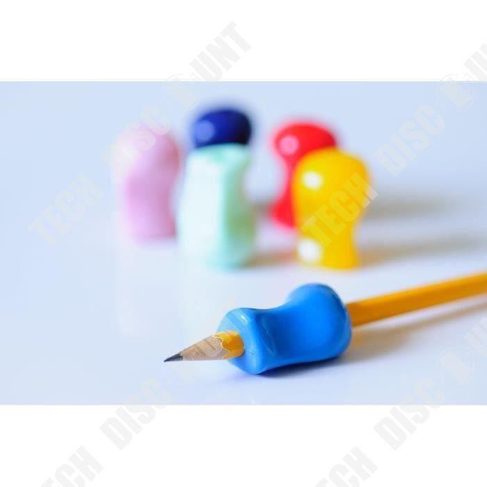 TD® Grips pour crayon – Assortiment de 6 Pièces –Aide ergonomique à l'écriture pour les droitiers et les gauchers –Pour une écriture