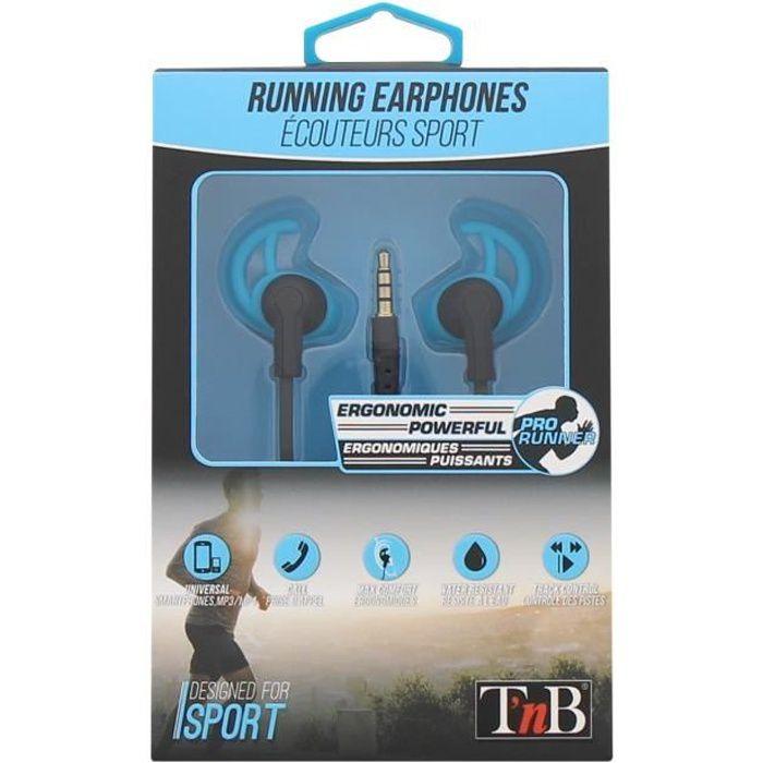 T'NB Running Ecouteurs sport intra-auriculaire - Bleu
