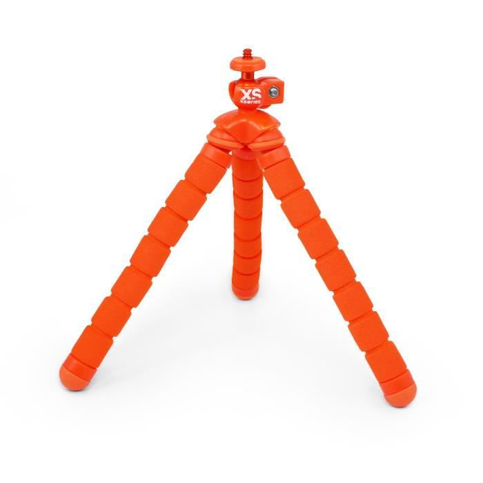 XSORIES Mini Trépied Flexible pour Caméra d'Action Bendy - Orange