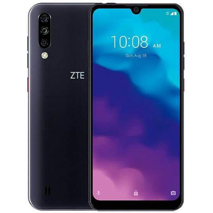 ZTE Blade A7 2020 3 Go / 64 Go Noir (Noir Nuit) Double SIM Equipé d'un écran 6,1 ″ HD + avec encoche goutte d'eau et cadres réduits.