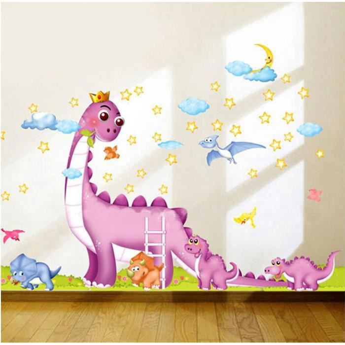 dinosaures de parc jurassique stickers muraux amovibles d coration chambre d 39 enfant achat. Black Bedroom Furniture Sets. Home Design Ideas