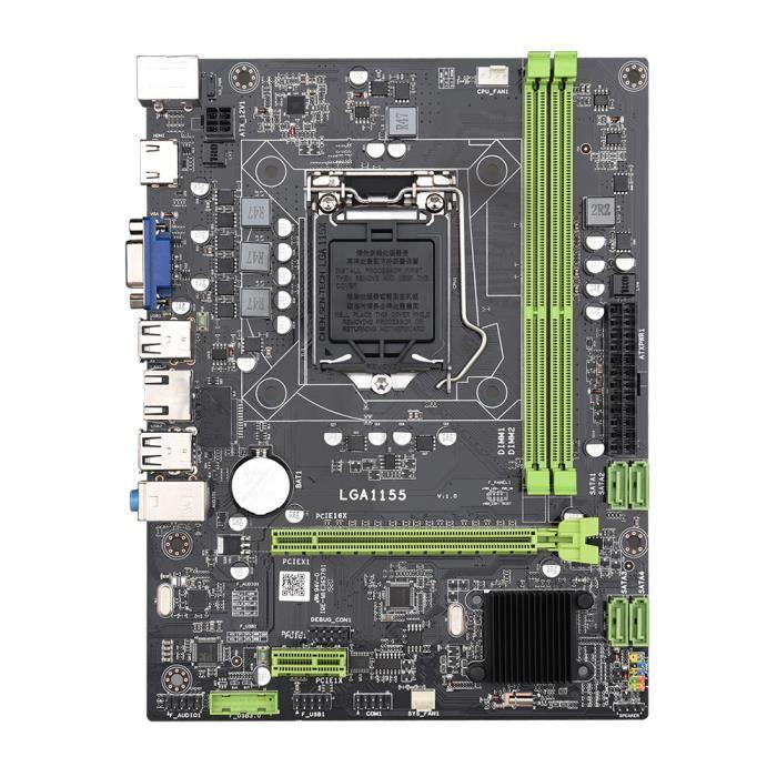 CARTE MÈRE Jingsha H61 carte mère M-ATX LGA1155 DDR3 carte mè