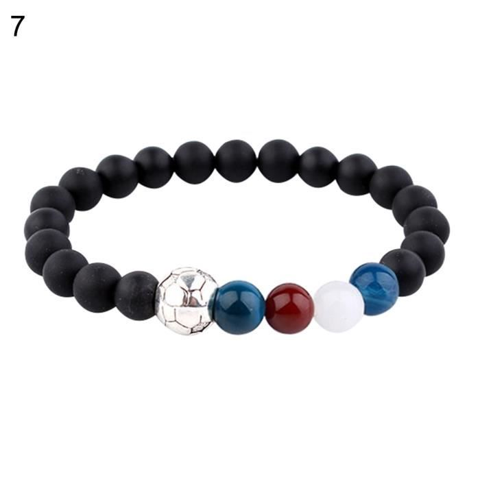 2018 Bracelet Coupe Du Monde De Football En Pierre Naturelle