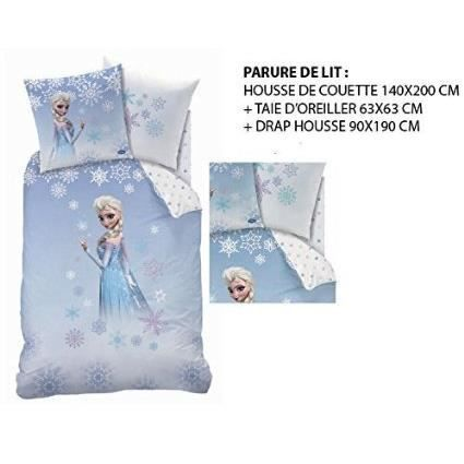la reine des neiges parure de lit 3 pi ces achat vente figurine personnage cdiscount. Black Bedroom Furniture Sets. Home Design Ideas