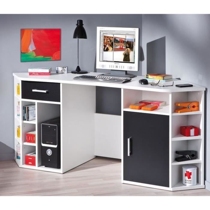 bureau d 39 angle fabri achat vente bureau bureau d 39 angle fabri cdiscount. Black Bedroom Furniture Sets. Home Design Ideas