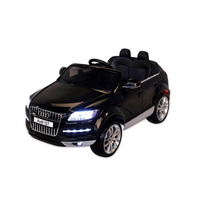 voiture lectrique pour enfants audi q7 noir achat. Black Bedroom Furniture Sets. Home Design Ideas