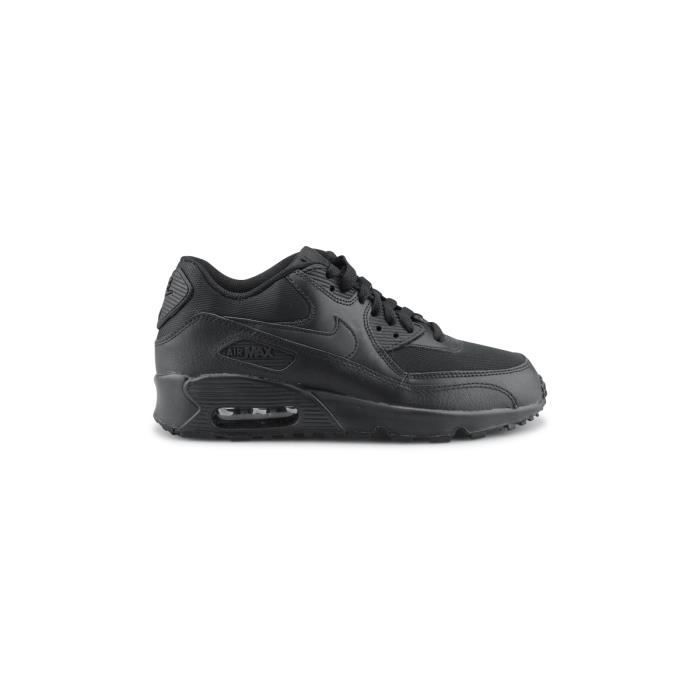super popular 4d015 a0b96 Basket Nike Air Max 90 Mesh Junior Noir 833418-001