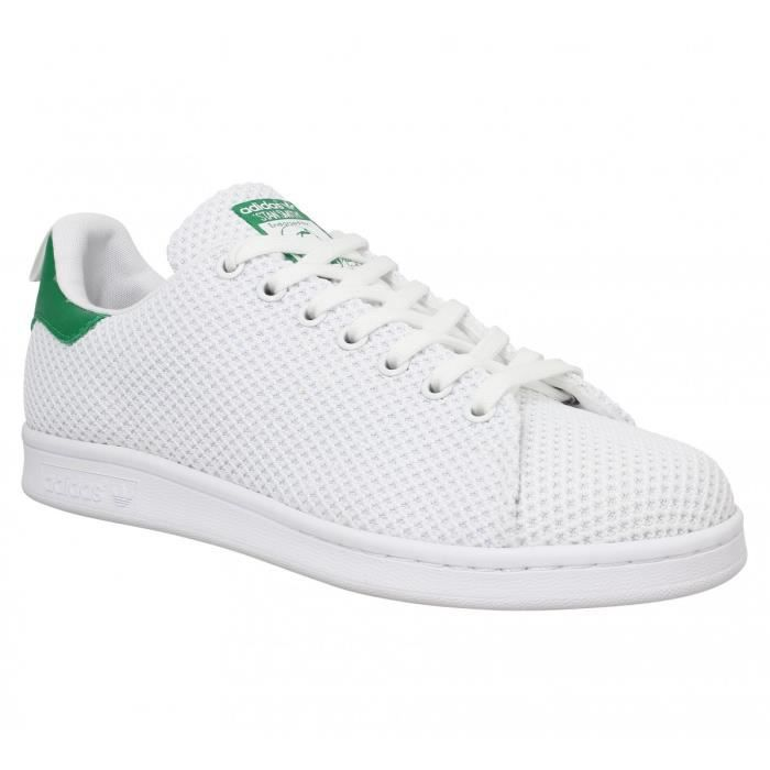 ADIDAS ORIGINALS - Baskets - ADIDAS Stan Smith toile Blanc ...