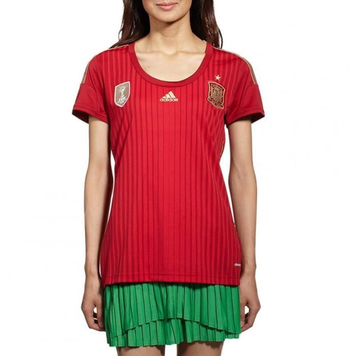 Espagne Femme Maillot Football Rouge Adidas