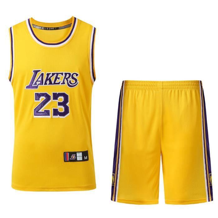Maillots de Basket-Ball pour Hommes Sweats /à Capuche dentra/înement pour Fans Masculins avec Bonnet et Bracelet tricot/és YUUY Lebron James # 23 Lakers de Los Angeles Color : B, Size : 2XL