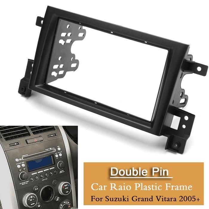 Vauxhall Corsa Noir Double Panneau Avant Fascia Voiture Stéréo Kit De Montage Plaque Adaptateur