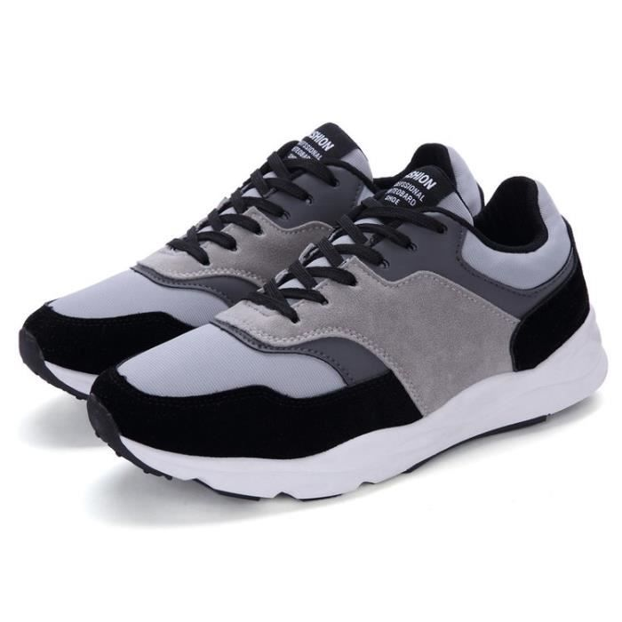 Running Air Gym Style Jogging Baskets Homme Sneakers Sport noir Fitness rouge Chaussures Course Lacet Bleu vwRBpqv
