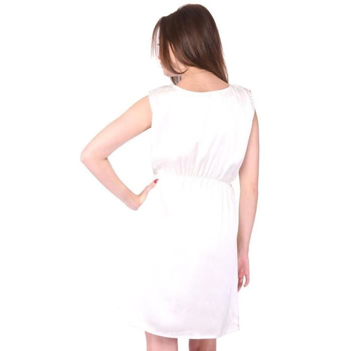 Womens Pearl White Dress FL7W5 Taille-40