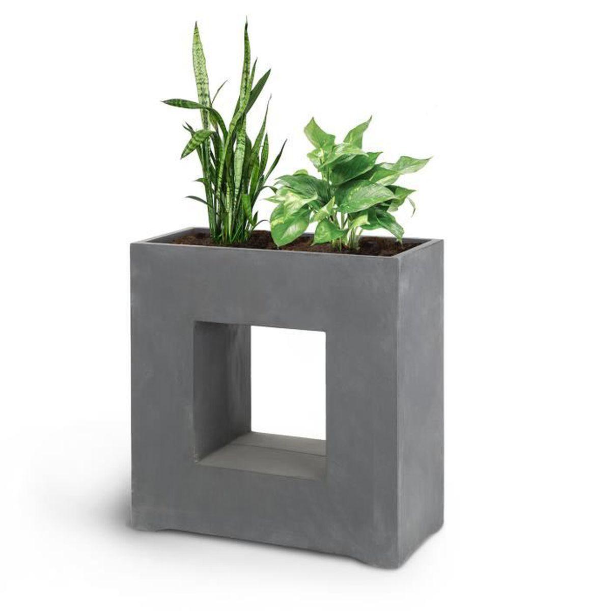 Bac A Fleur Exterieur blumfeldt airflor - pot de fleurs jardinière - 70 x 70 x 27