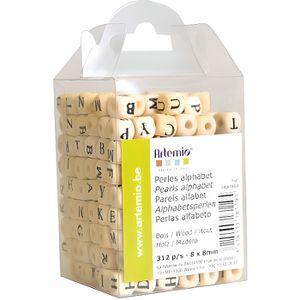 """3//8/""""x3//8/"""" 200PCs naturel au hasard Alphabet//Lettre Cube À faire soi-même Bois Perles 10x10mm"""