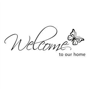 STICKERS Stickers Muraux Motif papillon Bienvenue à notre m