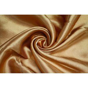 TISSU Tissu Satin Polyester Ocre -Coupon de 3 mètres