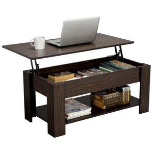 TABLE BASSE Yaheetech Table Basse Contemporain avec Plateau Re
