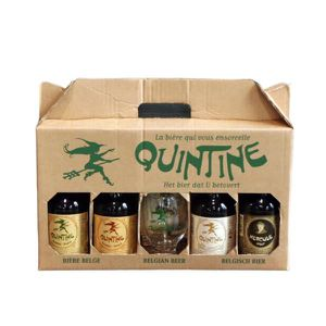BIÈRE Coffret Valisette Quintine 4x33cl + 1 verre