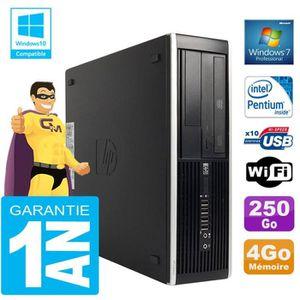 UNITÉ CENTRALE  PC HP Compaq 8300 SFF Intel G850 Ram 4Go Disque 25