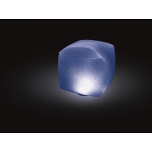 PROJECTEUR - LAMPE INTEX Lampe flottante Led cube gonflable - 16,5x16