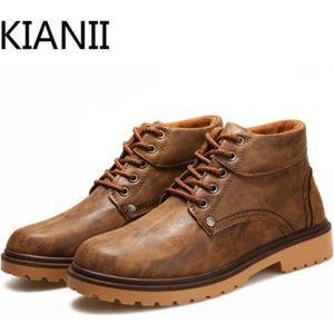 BOTTINE Chaussure homme-Bottine homme pour l'hiver Marron