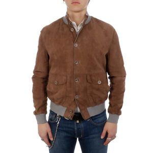 BLOUSON THE JACK LEATHERS HOMME POLO07MIELE MARRON SUÈDE B