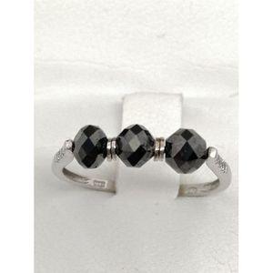 bague diamant noir et blanc pas cher