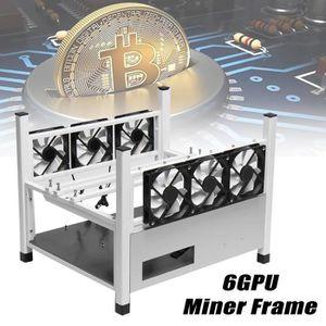 BOITIER PC  NEUFU Miner Mining Frame Minière Cadre + 6 Ventila