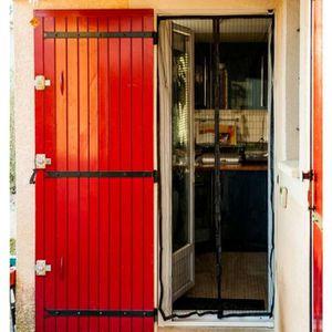 uyhghjhb Rideau de porte magn/étique pour fen/être et porte Motif fleurs et papillons 90 x 210 cm