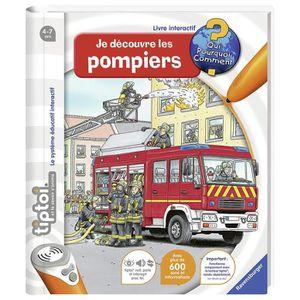 JEU D'APPRENTISSAGE TIPTOI Je découvre les pompiers