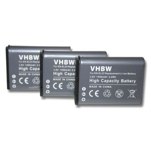 BATTERIE APPAREIL PHOTO 3 batteries pour Nikon CoolPix P600, Nikon CoolPix