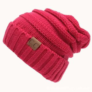 BONNET - CAGOULE Bonnet Magenta Chapeau tricoté de de couleur unie