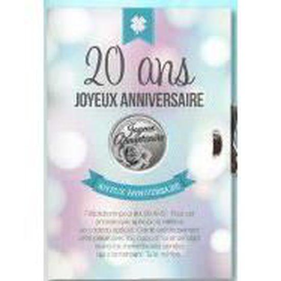 Carte Medaille Porte Bonheur 20 Ans Joyeuse Anniversaire Achat Vente Kit De Decoration Cdiscount