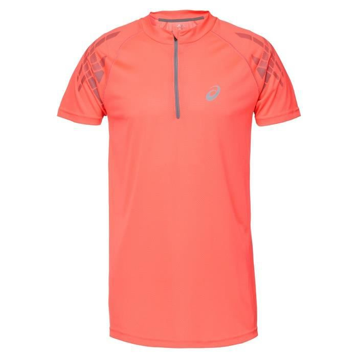 ASICS Speed Tee shirt manches courtes - Demi zip Homme