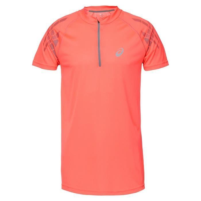 ASICS Speed Tee shirt manches courtes - Demi zip Homme