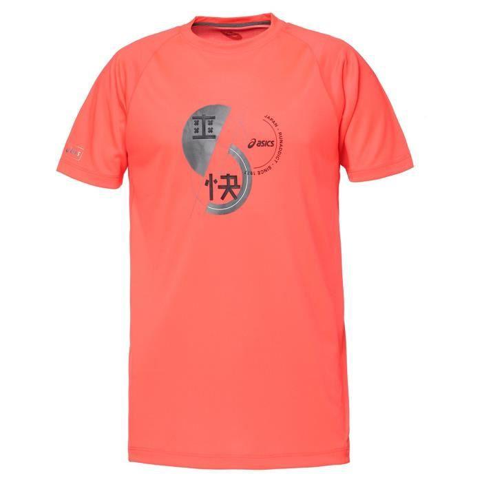 ASICS Soukai Tee shirt manches courtes Homme - Rouge