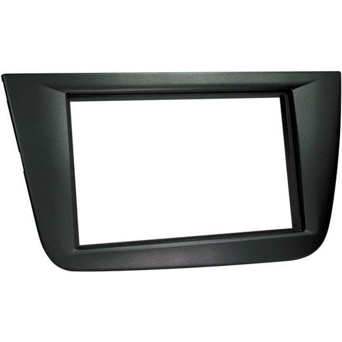 Adaptateur de façade 2-DIN Seat Altea / Altea XL/ Toledo 2004 > noir