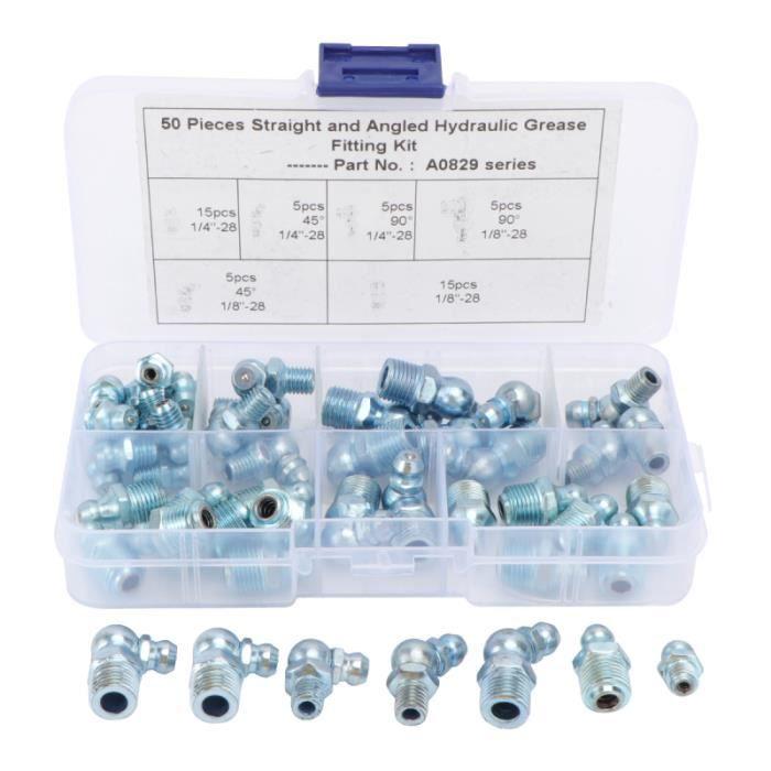 Métal de remplacement durable de haute qualité graisseur Raccords Assortiment Set Kit de lubrification ACCESSOIRE HAUTE PRESSION