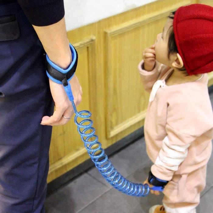 Corde anti-perte pour enfants réglable par dragonne pour enfants 1,5 m