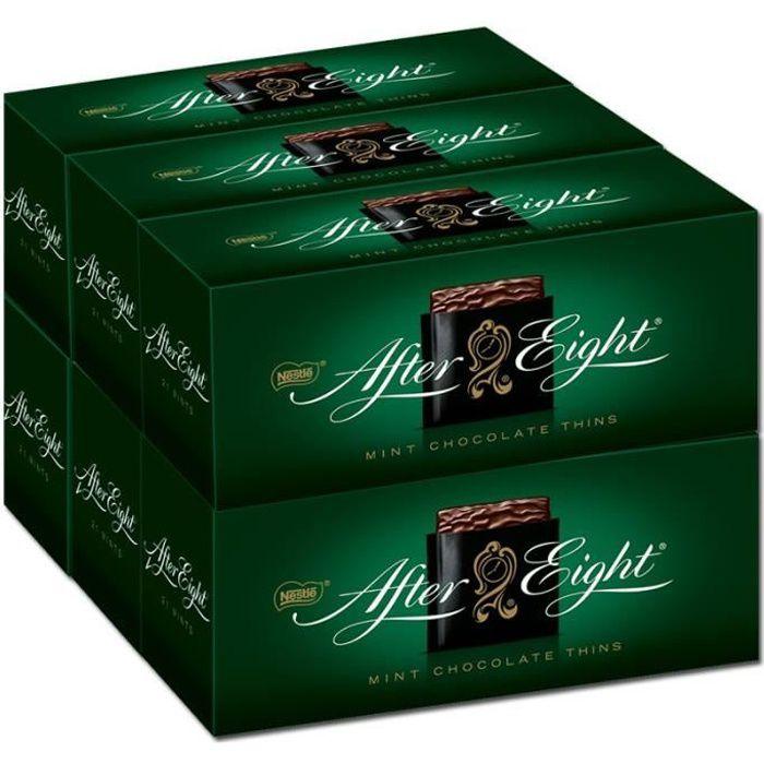 Nestlé After Eight, chocolats menthe poivrée, 6 paquets de 200g