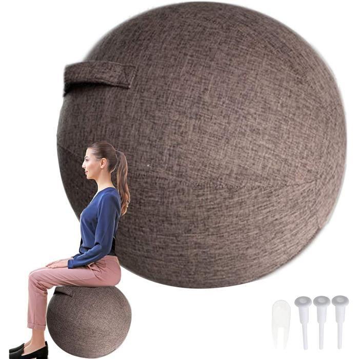 Swiss Ball Grossesse-Ballon Gym Housse 55cm - 65cm - 75cm Ballon de Gym pour La Maison Et Le Bureau Bureau Pilates Yoga Stabili 73