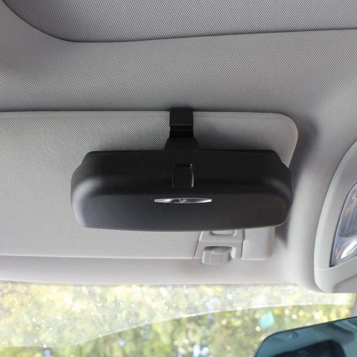 Single Buckle Black -Étui pour lunettes de voiture Hyundai IX35 - Double-simple, 2 styles, boucle, boîte d'organisation, pochette