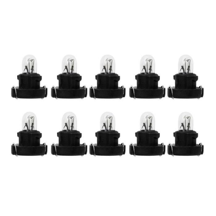 Black -Ampoules T3 pour intérieur de voiture, 10 pièces, lampes de tableau de bord pour Honda, lumières d'instruments pour voitur