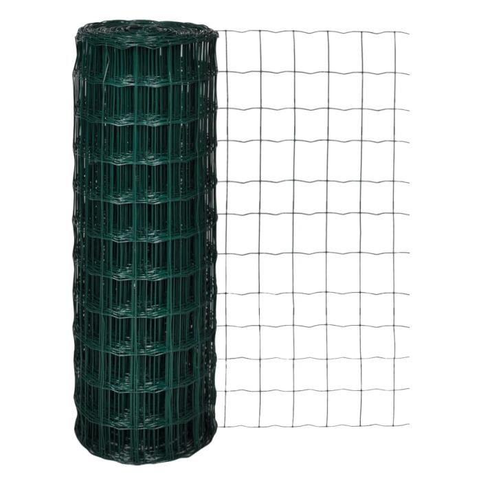 ♫4055 Clôture euro - Classique - Clôture de jardin Brise vue Acier 10 x 1,7 m Vert MMCZ®