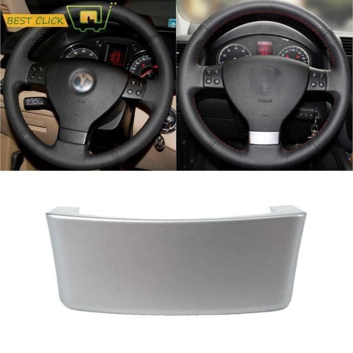 Couvre-Volant en ABS chromé multifonction, pour VW Golf Jetta Mk5 GTI Passat B6 Touran Eos