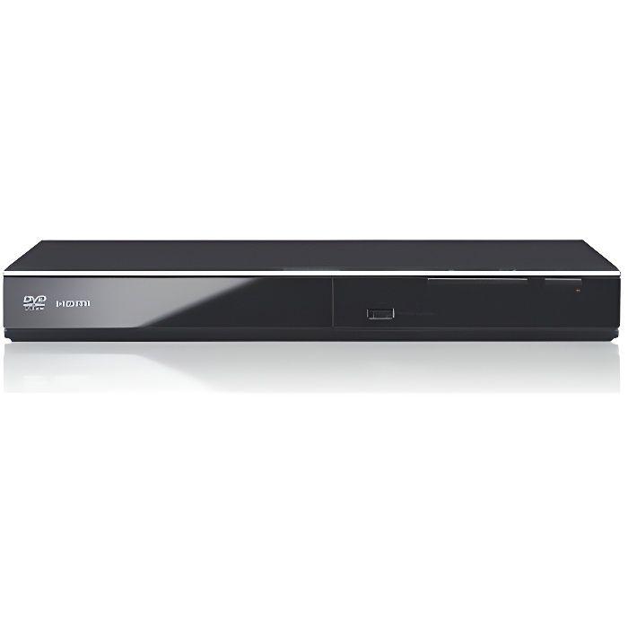 Panasonic Lecteur DVD HD DVD-S700EG-K Conversion Full HD, Compatible Xvid, Lecture Mutli Formats, Port USB, Etanche à la Poussièr