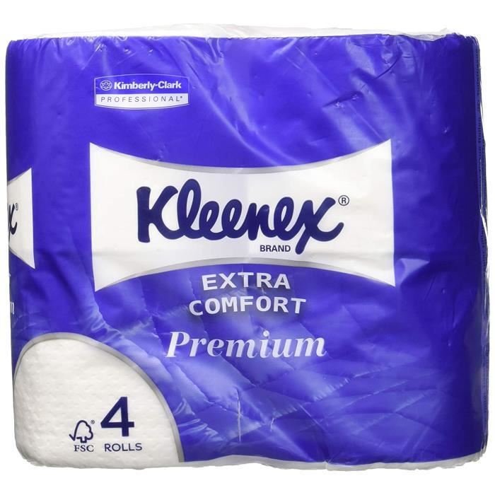 8484 rouleaux de papier toilette kleenex, petits rouleaux, 160 sc, blanc