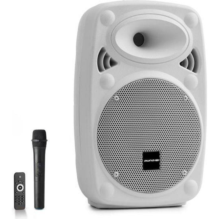 Auna Pro Streetstar 8 Pack sono DJ : Enceinte amplifiée portable 8- - Bluetooth USB SD MP3 AUX + micro - 200W
